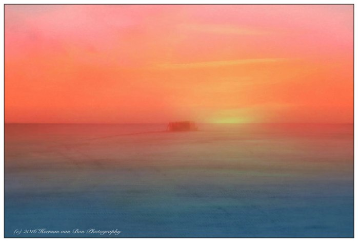 landmark-in-a-foggy-sunset